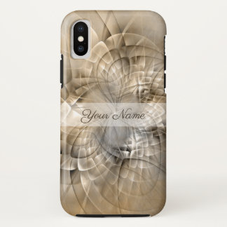 Earth Tones Abstract Modern Fractal Art Name iPhone X Case