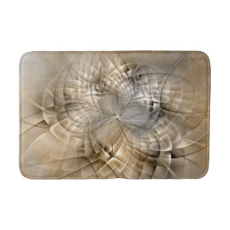 Earth Tones Abstract Modern Fractal Art Texture Bath Mats