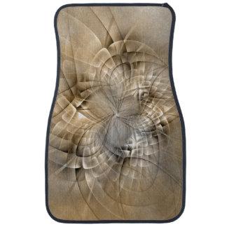 Earth Tones Abstract Modern Fractal Art Texture Floor Mat
