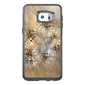 Earth Tones Abstract Modern Fractal Art Texture OtterBox Samsung Galaxy S6 Edge Plus Case