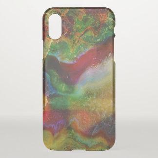 Earth Tones Agate Stone Print iPhone X Case