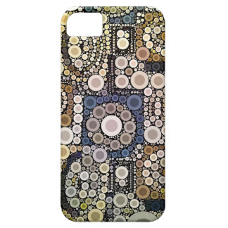 Earth Tones Concentric Circles Mosaic Pattern iPhone 5 Cases