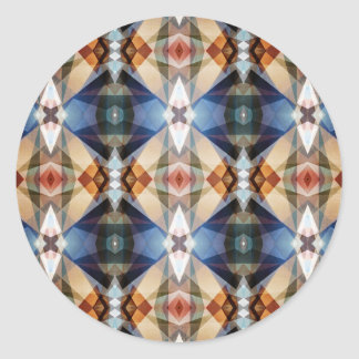 Earth Tones Geometric Abstract Pattern Round Sticker