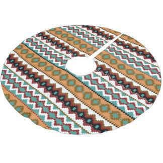 Earth Tones Tribal Pattern Christmas Tree Skirt