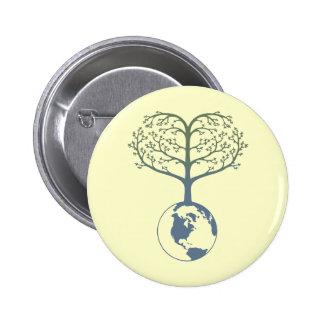 Earth Tree Heart Pin