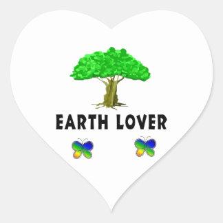 Earth Tree Lover Heart Sticker