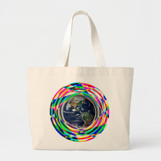 Earth Vibes by Kenneth Yoncich Large Tote Bag