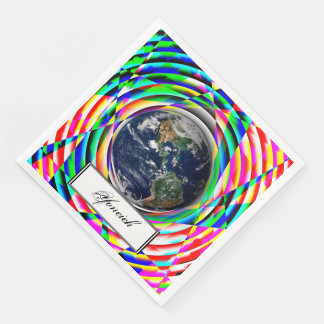 Earth Vibes by Kenneth Yoncich Paper Napkin