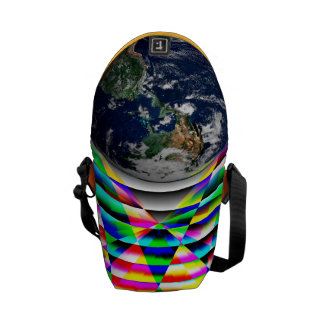 Earth Vibes I by Kenneth Yoncich Messenger Bags