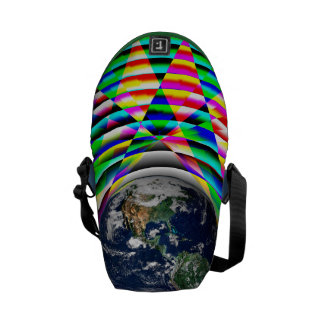 Earth Vibes II by Kenneth Yoncich Messenger Bags