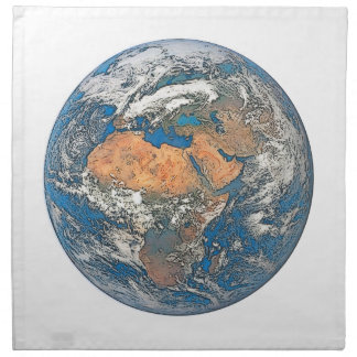 Earth View focused on the Cradle of Civilization Napkin