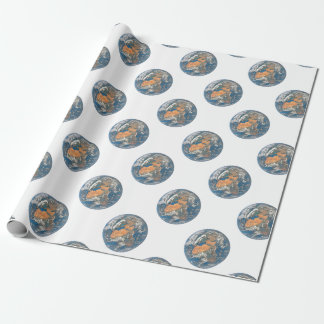 Earth View focused on the Cradle of Civilization Wrapping Paper