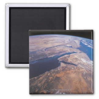 Earth Viewed from Space Square Magnet