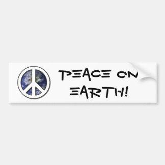 Earth White Peace Sign7 Bumper Sticker