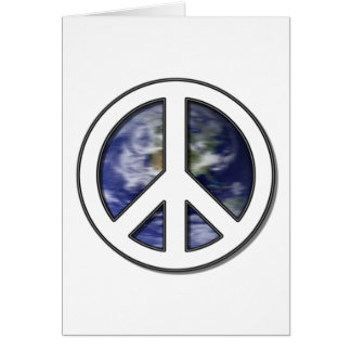 Earth White Peace Sign7 Greeting Card