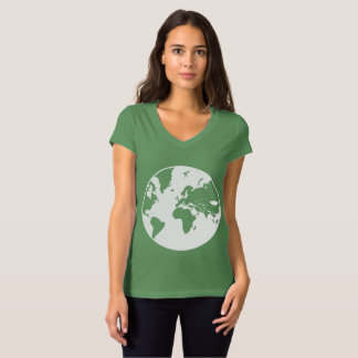 Earth / Women's Bella Jersey V-Neck T-Shirt
