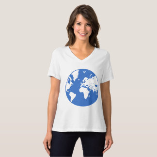 Earth / Women's Bella Relaxed Fit Jersey V-Neck T-Shirt