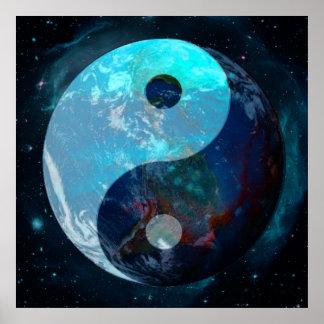 Earth Yin Yang Poster