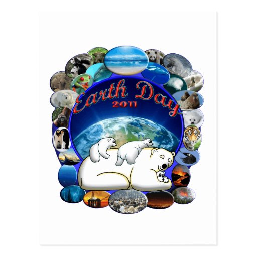 EARTHDAY 2011 DESIGN FROM DAVID M. BOOTH POSTCARD