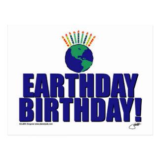 Earthday Birthday Postcard
