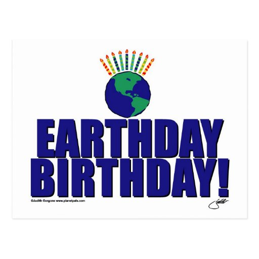Earthday Birthday Post Card