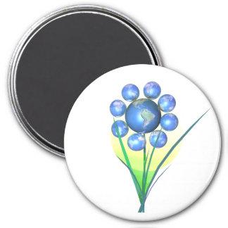 Earthday Flower 7.5 Cm Round Magnet