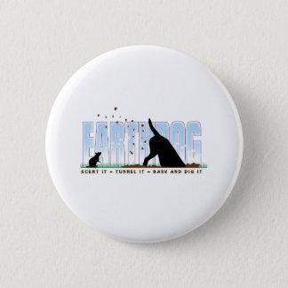 Earthdog color design 6 cm round badge