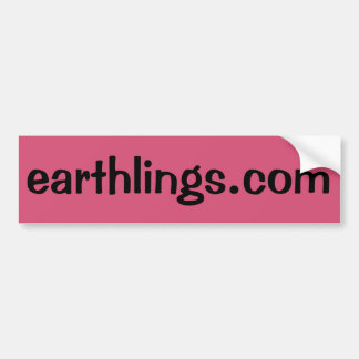 Earthlings.com Bumper Sticker