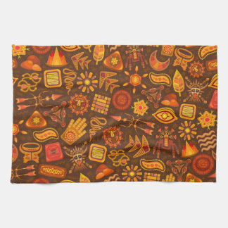 Earthly Shapes Kitchen Towel