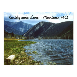 Earthquake Lake 1962 Montana Postcard