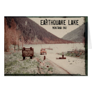 Earthquake Lake Montana 1961 Greeting Card