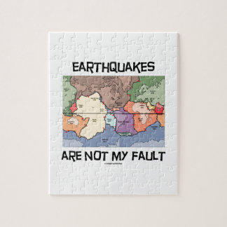 Earthquakes Are Not My Fault (Plate Tectonics) Jigsaw Puzzle