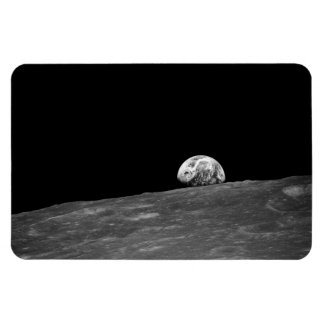 Earthrise from Apollo 8 Moon Mission Rectangle Magnets