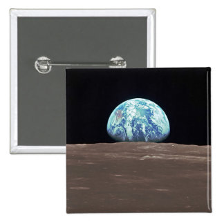 Earthrise from the Moon 15 Cm Square Badge
