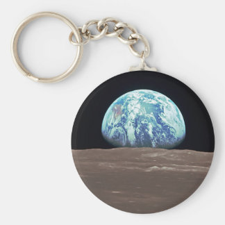 Earthrise from the Moon Basic Round Button Key Ring
