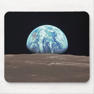 Earthrise from the Moon Mouse Pads
