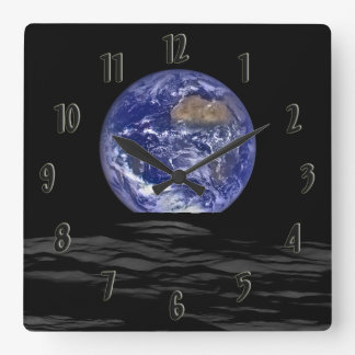 Earthrise Square Wall Clock