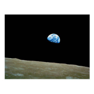 Earthrise taken by the Apollo 8 Mission Postcard
