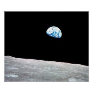Earthrise - The Lunar Perspective Poster