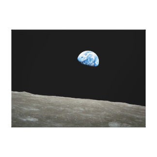"Earthrise wrapped canvas print 16"" x 22"""