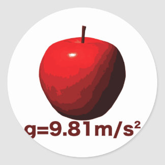 Earth's_Gravity Classic Round Sticker