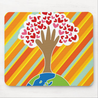 Earth's Hand & Tree of Love Mousepad