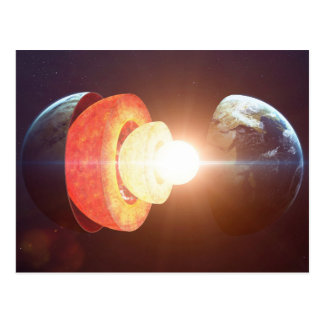 Earth's Layers Postcard