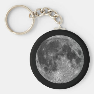 Earth's Moon in Outer Space Key Ring