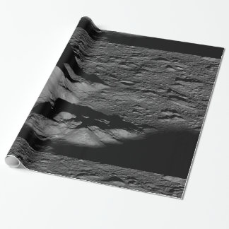 Earth's Moon Tycho Crater Central Peak Wrapping Paper