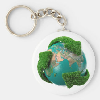 Earth's rotation causes the movement of the time basic round button key ring