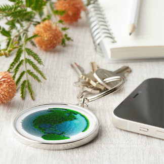 Earth's rotation causes the movement of the time Silver-Colored round key ring