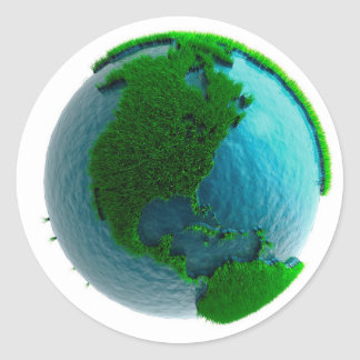 Earth's rotation round sticker