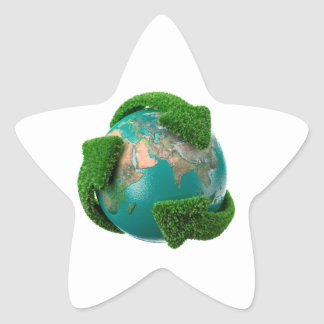 Earth's rotation star sticker