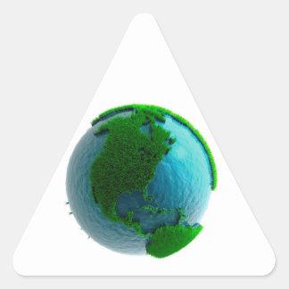 Earth's rotation triangle sticker